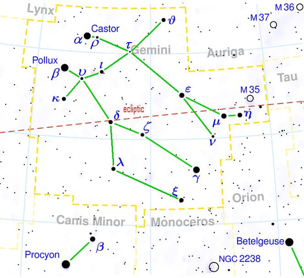 Gemini Heres Your Constellation Astronomy Essentials EarthSky - Star sky map over eastern us