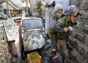 March 2011 earthquake aftermath in Japan.  Via U.N. Radio