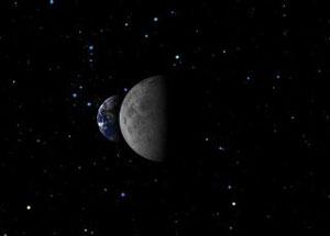 Earth and moon via NASA