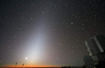 Zodiacal light at Paranal. Image credit: European Southern Observatory/Y. Beletsky