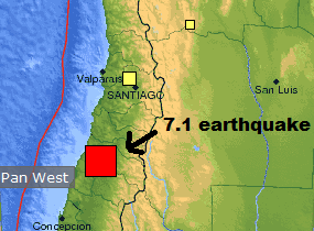 7.1 earthquake in central Chile on March 25, 2012.