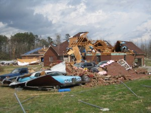 McCulley Mill Road near Pepper Road in northern Alabama from a EF-3 tornado. Image Credit: NWS