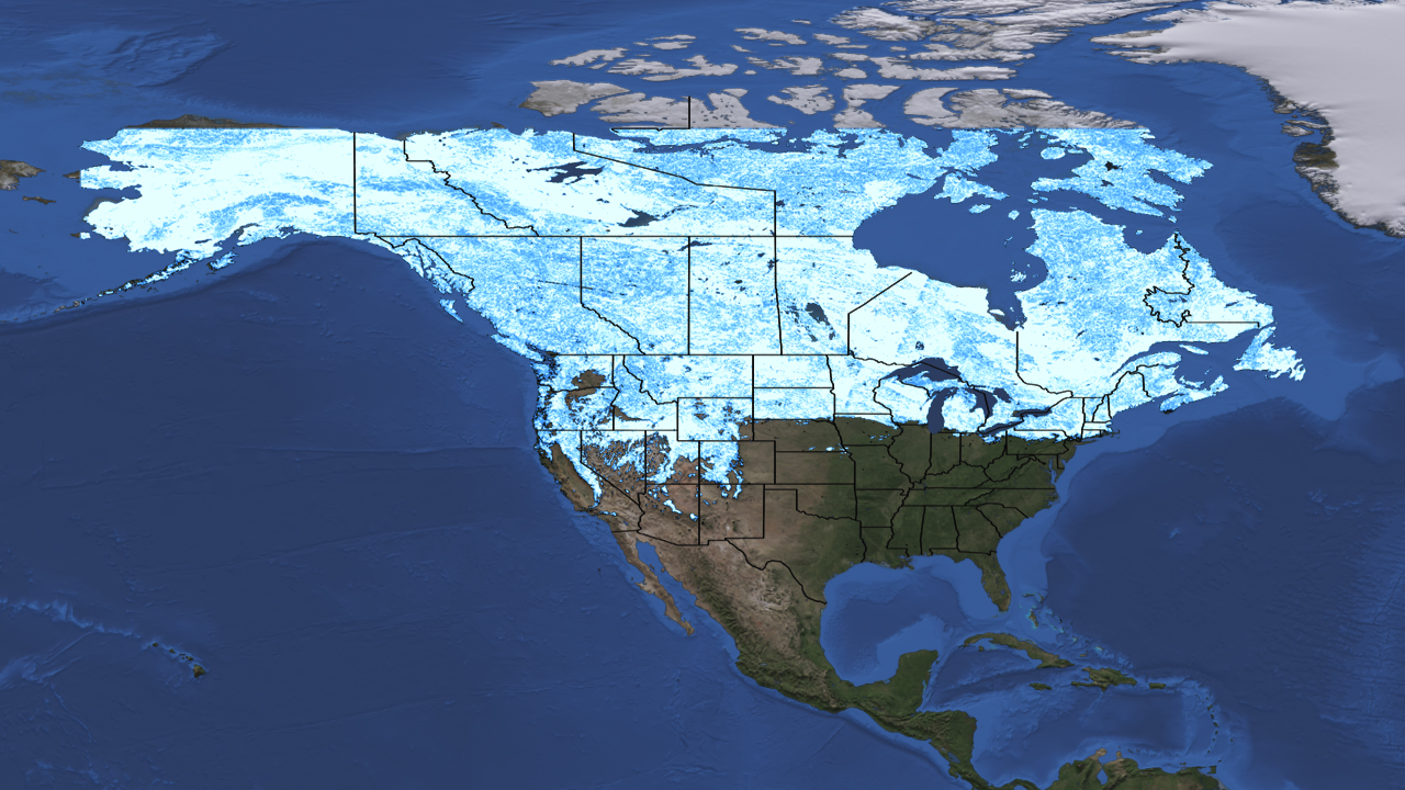 2012 snow cover compared to 2011 snow cover from space ...