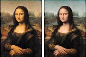 Mona Lisa shows us her left side