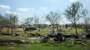 Tornados in Texas April 3, 2012. Image Credit: NWS