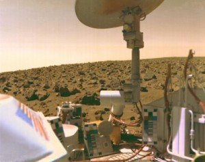 Viking on Mars in the 1970s.