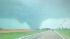 Tornado in Salina, Kansas April 14, 2012 via Mark Elliot.