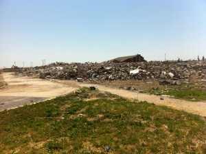 The remains of Joplin High School one year after the deadly EF-5 tornado pushed through the city. Image Credit: Daniel Dix