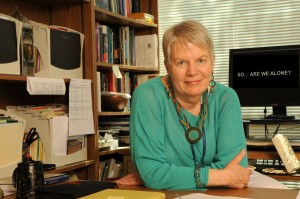 Jill Tarter, who stepped down as SETI Institute director this week, says any aliens who come here will be aiming to explore, not conquer.  Photo credit:  SETI