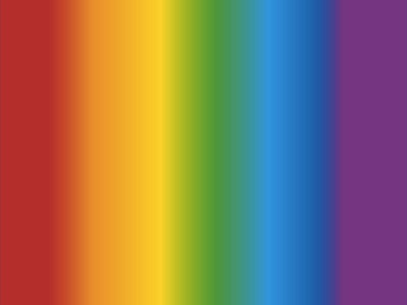 Vertical stripes of color fading from red through yellow, green, blue to purple.