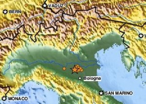Earthquake northern Italy May 29, 2012