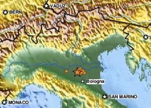 Earthquake northern Italy May 29, 2012