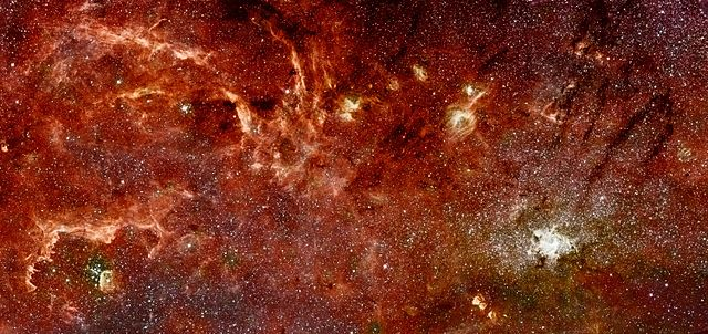 Infrared image of the galactic center