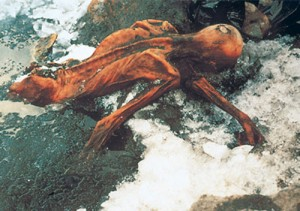 The Iceman, world's oldest mummy, discovered frozen in glacier near border of Austria and Italy. © South Tyrol Museum of Archaeology