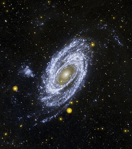UV image of spiral galaxy M81