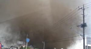 tornado in japan