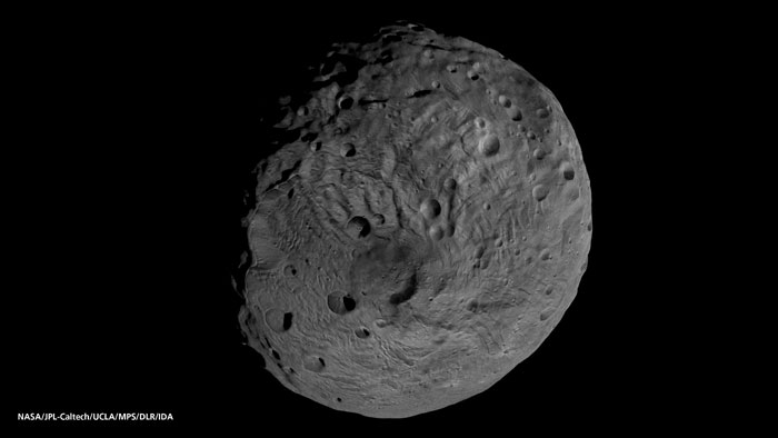 Vesta south pole