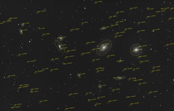 The Virgo galaxy cluster, via Wikimedia Commons.
