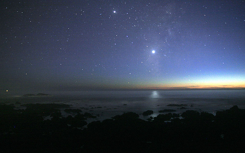 Venus over the Pacific Ocean