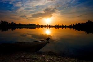 Sunrise at Srah Srang, Cambodia