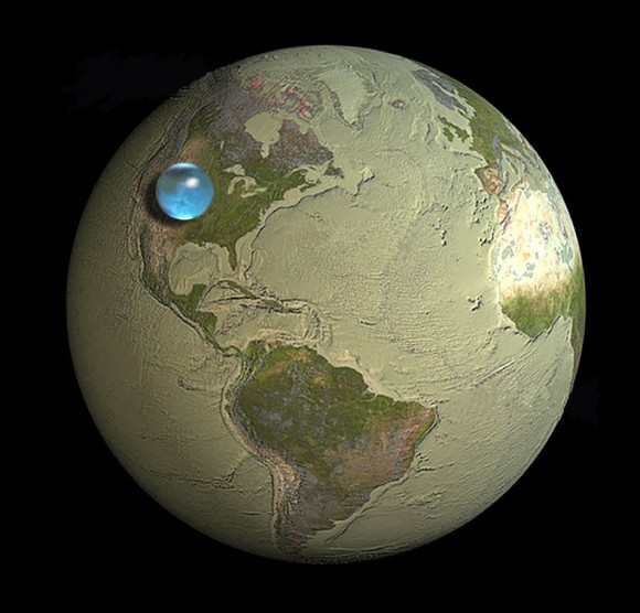 If you made a sphere of all Earth's water, how big would it be?