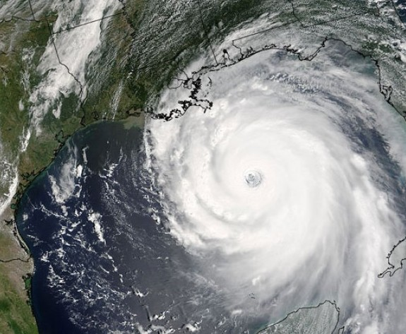 Hurricane Katrina, 2005. Image Credit: NASA/Jeff Schmaltz, MODIS Land Rapid Response Team
