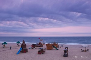 An early morning in Bright Sands, New Jersey, on the beach.