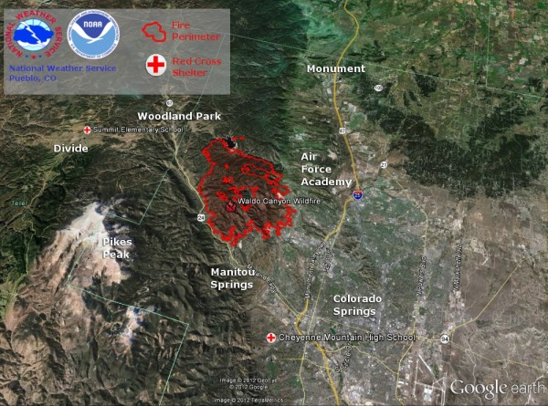 Wildfire In Colorado Springs Now 45 Contained Earth Earthsky