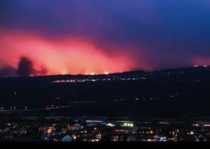 Wildfire in Colorado Springs via Steve Moraco