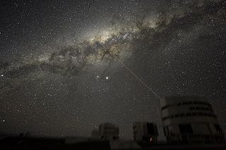 View of galactic center from VLT