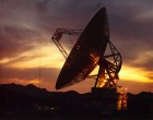 The Goldstone 70 meter radio dish sometimes used for VLBI observations.