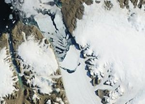 Petermann Glacier in Greenland in July 2012