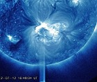 Sunspot grouping 1520 and July 12 X-flare.