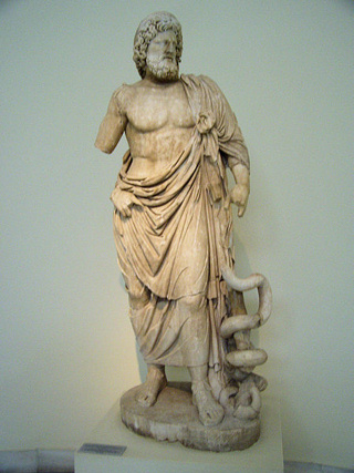 The legendary physician. The Greek Asclepius or Latin Aesculapius