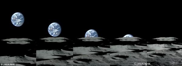 Πέντε πίνακες με μπλε και άσπρο έδαφος πλησιάζουν τον ορίζοντα και πηγαίνουν για τον τελευταίο πίνακα.