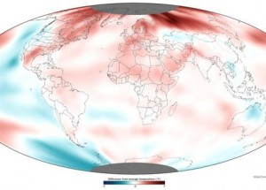 Departures from average temps 2011 (NOAA)