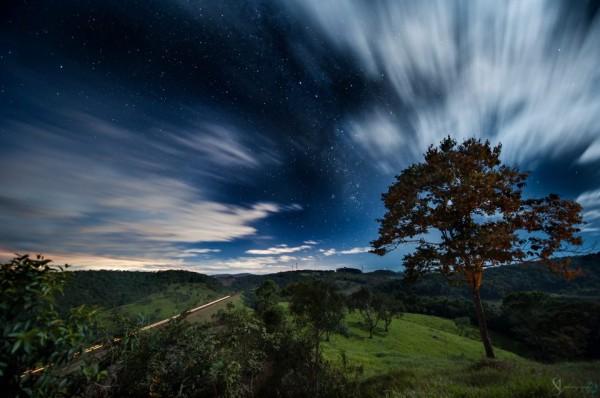 Milky Way, passing train, via Arthur Seabra in Brazil.