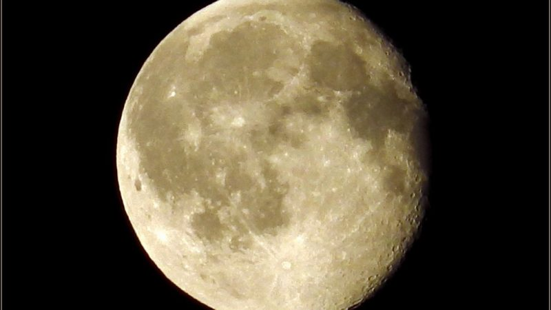 Waning gibbous moon just after midnight on the morning of June 23, 2016 by Deirdre Horan of Dublin, Ireland.