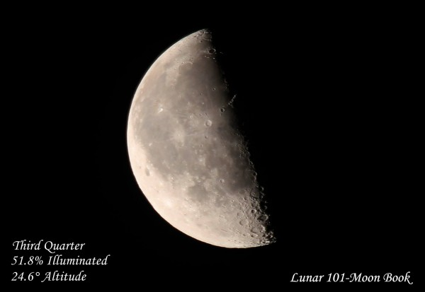 May 29, 2016 last quarter moon from EarthSky Facebook friend Lunar 101-Moon Book.