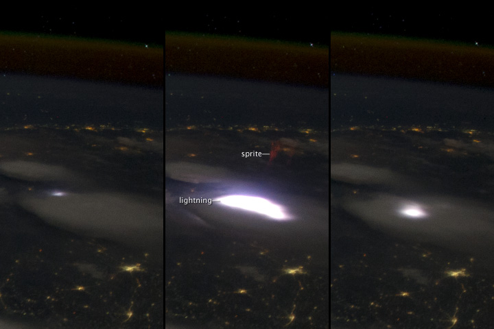 ISS astronaut captures photo of elusive sprite | Earth ...