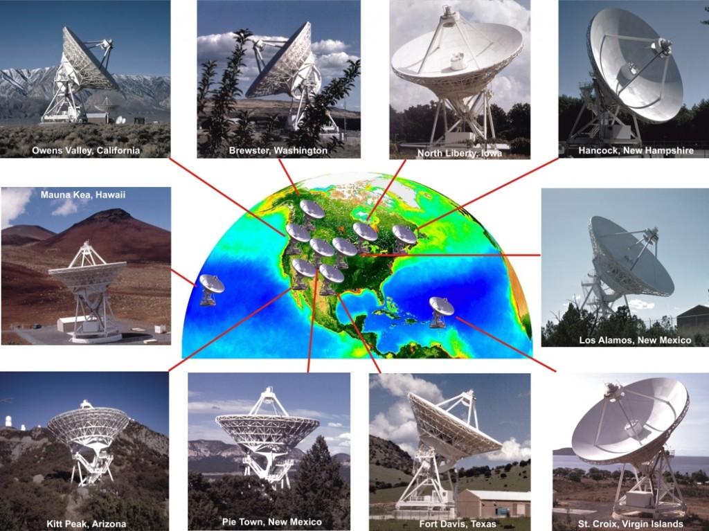 Locations of VLBA antennas
