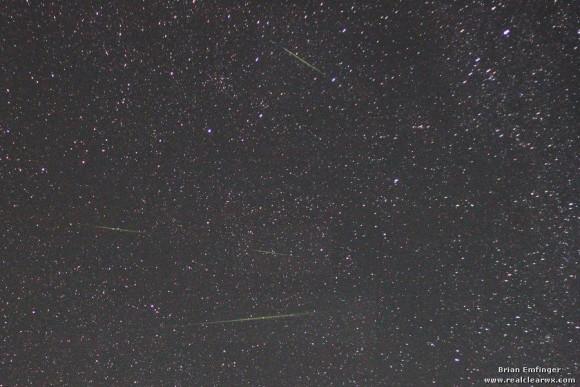 EarthSky's meteor shower guide for 2013 Perseid_meteors_2012_Brian_Emfinger-e1344782253988