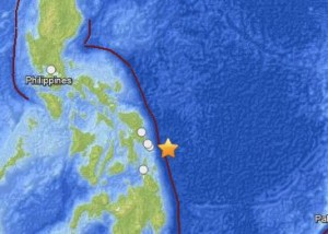 Undersea earthquake August 31, 2012, near Philippines