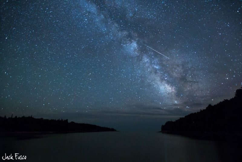 EarthSky Facebook friend Jack Fusco Photography caught this meteor in Acadia National Park in Maine.  More of Jack's Photography here.