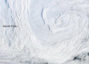 Arctic storm August 2012 via NASA's Aqua satellite