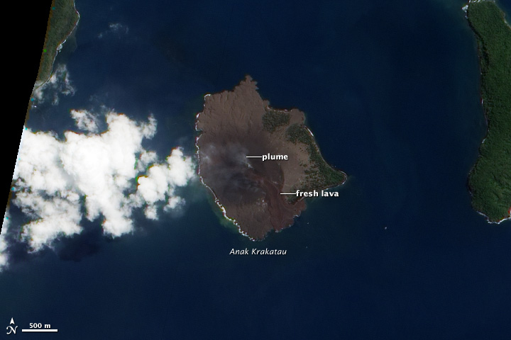Anak krakatau volcano eruption from space earth earthsky anak krakatau publicscrutiny Image collections
