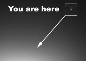 Earth in Mars' sky via NASA rover Spirit in 2004