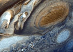 Jupiter seen by Voyager 1 spacecraft.