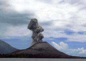 anak krakatau volcano eruption from space earth earthsky