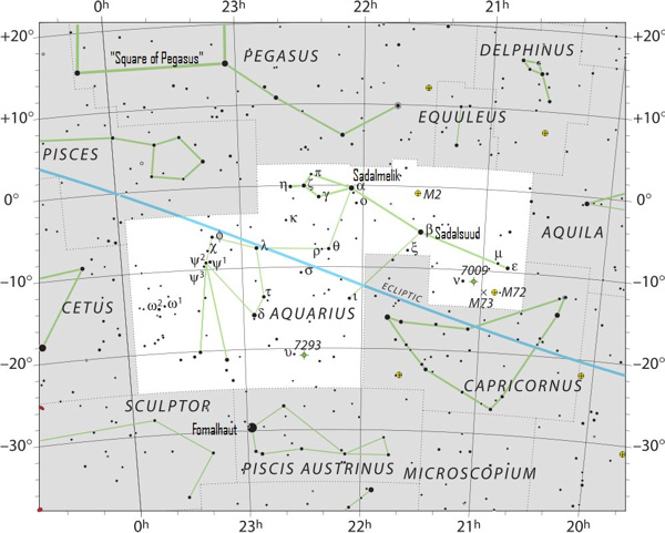 Aquarius Heres Your Constellation Astronomy Essentials EarthSky - Star sky map over eastern us